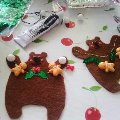atelier creatif ours feutrine guirlande