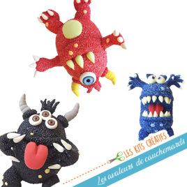 kit creatif enfant monstre avaleur de cauchemar soucis chagrin modelage