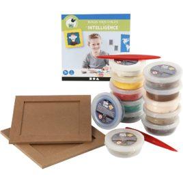 kit créatif modelage enfant cadre photo portrait