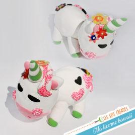 kit creatif enfant bricolage loisir creatif modelage pate modeler licorne kawaii manga