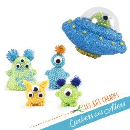 kit bricolage enfant modelage extraterrestre alien
