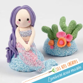 kit creatif enfant petite sirene magique modelage