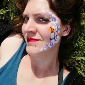 maquillage facepainting lama maquilleuse enfant gard herault lozere ardeche vaucluse