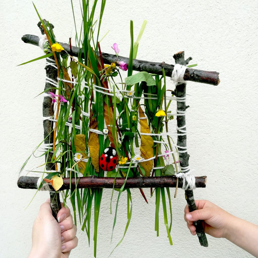 tissage vegetal land art