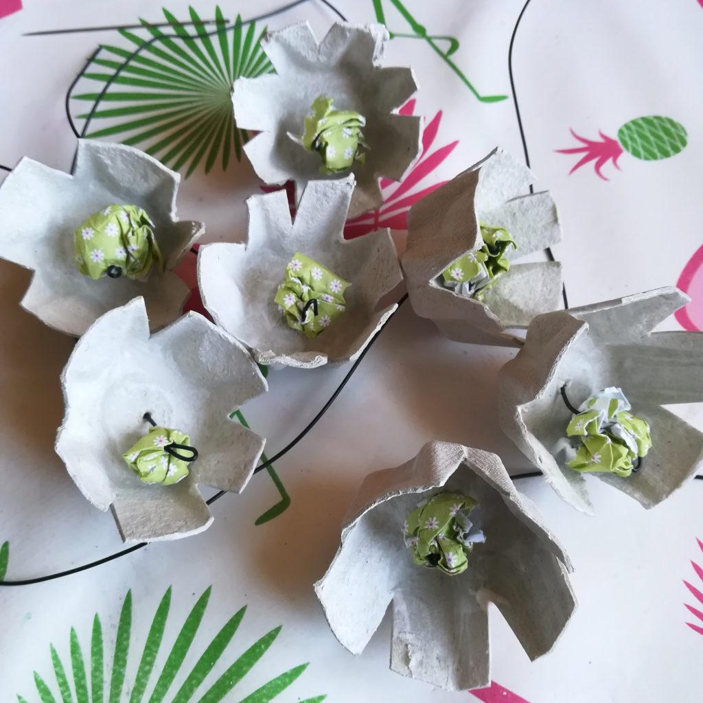 fleur papier recylage