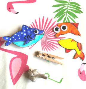 poisson marionnette diy papier carton