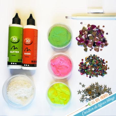 comment fabriquer bijou peau bling kit materiel