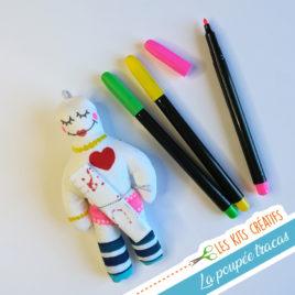 kit creatif enfant diy fabriquer sa poupee tracas