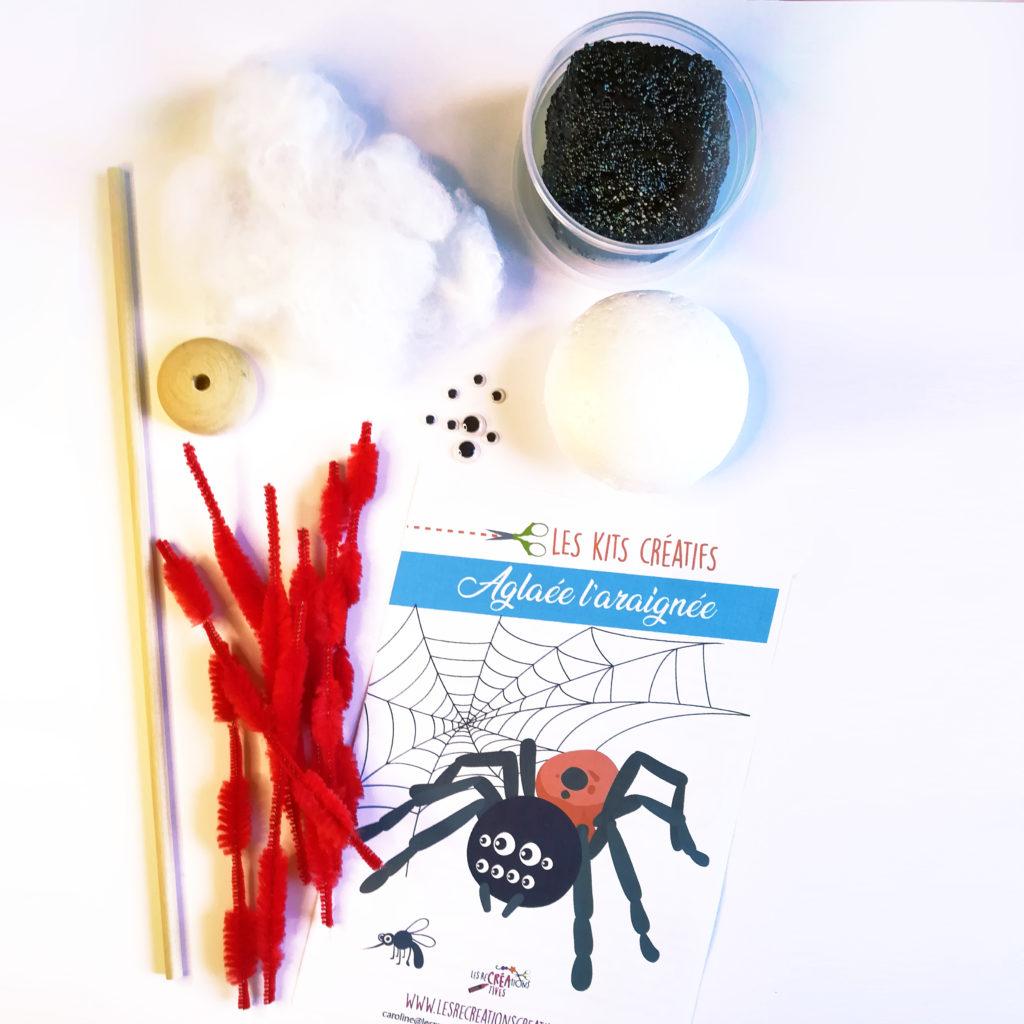 kit creatif modelage araignee