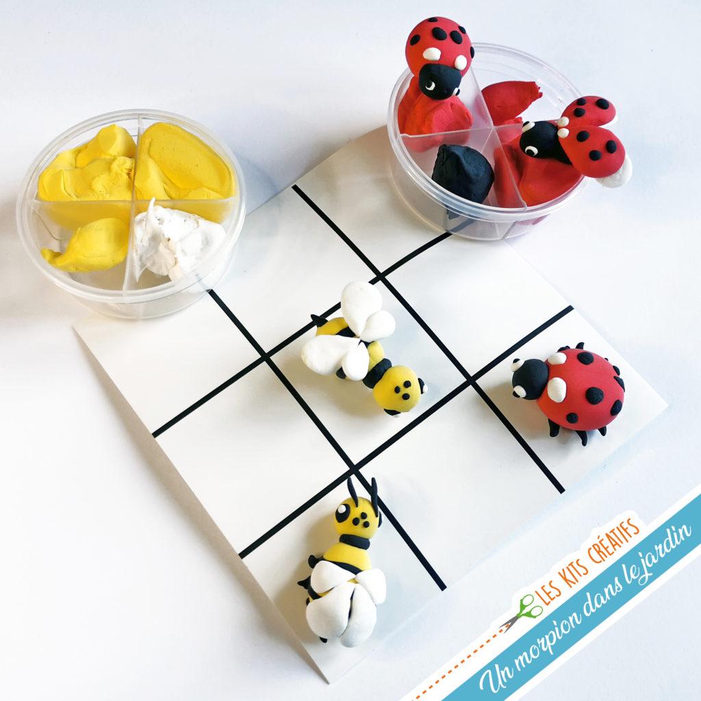 kit loisir creatif enfant jeu morpion