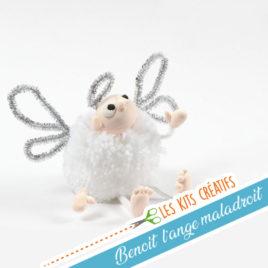 kit creatif enfant ange noel modelage
