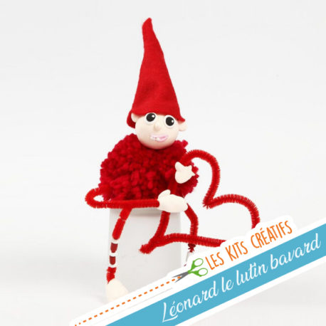 kit creatif enfant noel bricolage modelage lutin