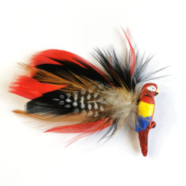 pince cheveux barrette perroquet animal totem plume