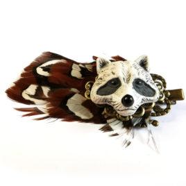 pince cheveux barrette raton laveur animal totem
