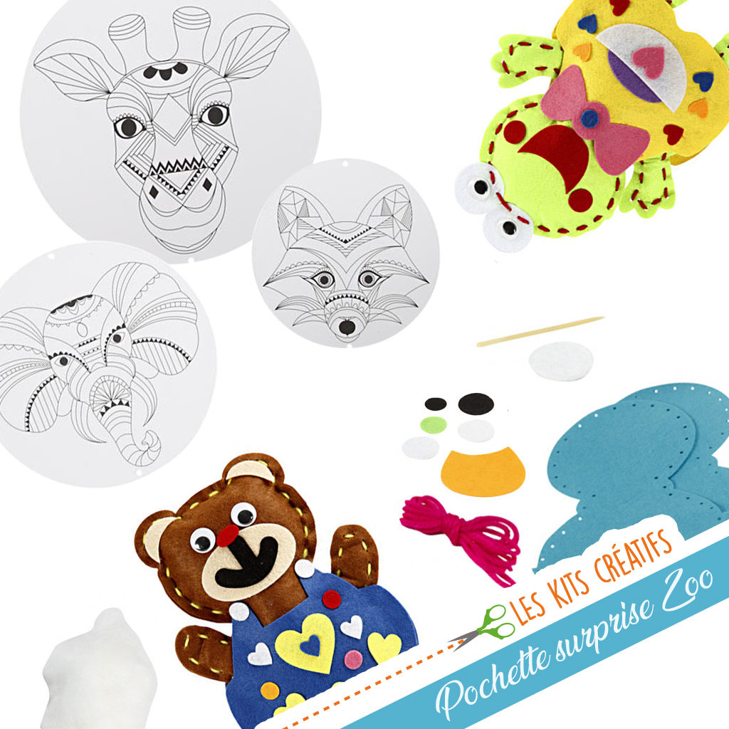 pochette surprise mixte enfant loisir creatif bricolage animaux