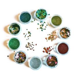paillette biodegradable bioglitter chunky fine vegan multicolore maquillage cosmetique