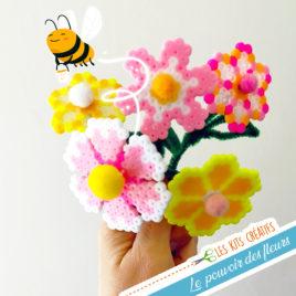 kit creatif bricolage enfant perle hama fleur