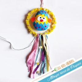 kit creatif diy facile enfant paques poussin decoration attrape reve